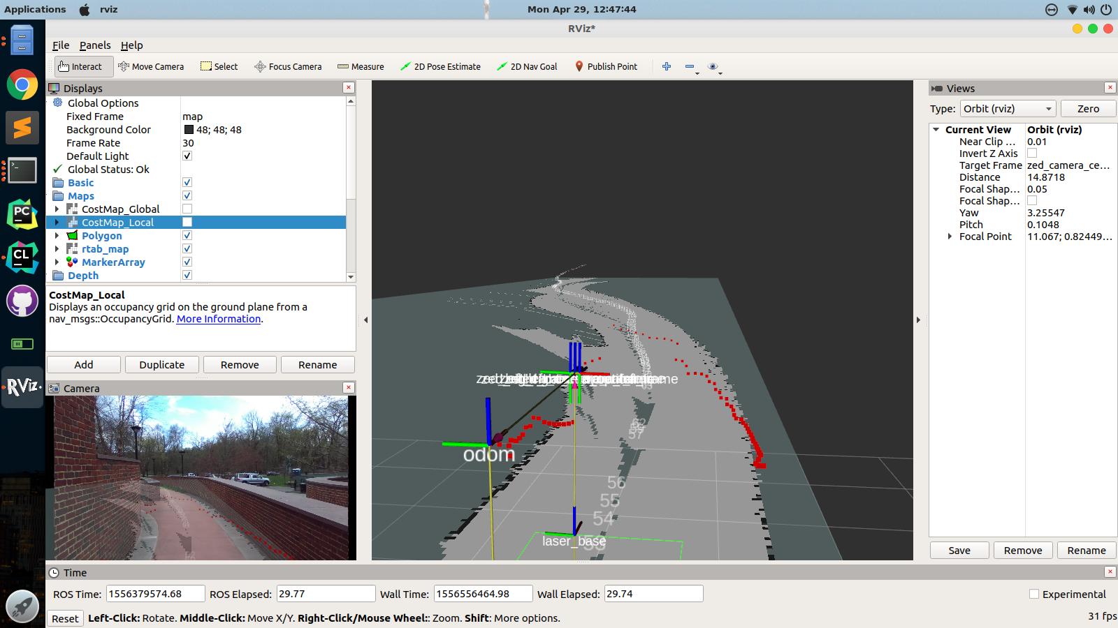 Self-Driving Golf Cart: Autonomous Navigation with the ROS